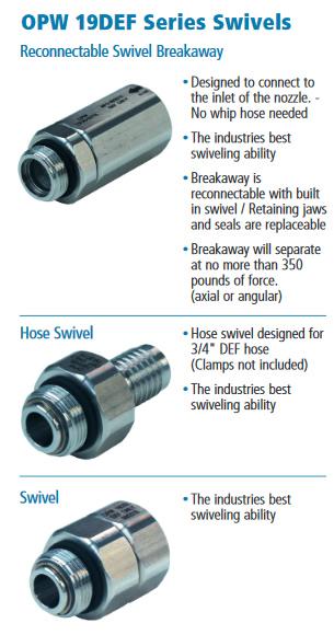 OPW Breakaways and Swivels