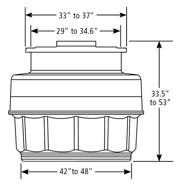 OPW FibreTite Tank Sump Dimensions
