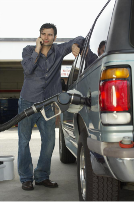 using cell phone at gas stations