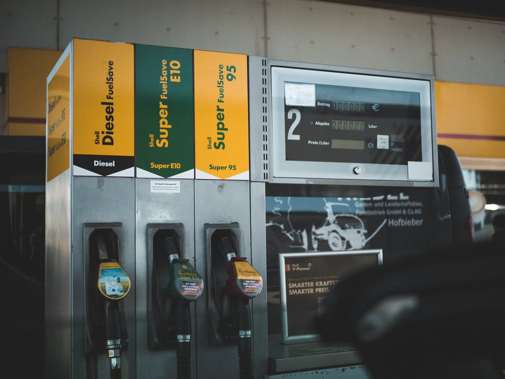 A new, high-quality fuel dispenser at a gas station