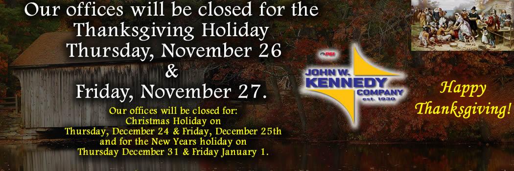 Happy Thanksgiving! JWK Holiday Schedule